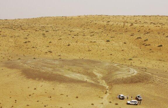 Ложе палеоозера в пустыне Нефуд