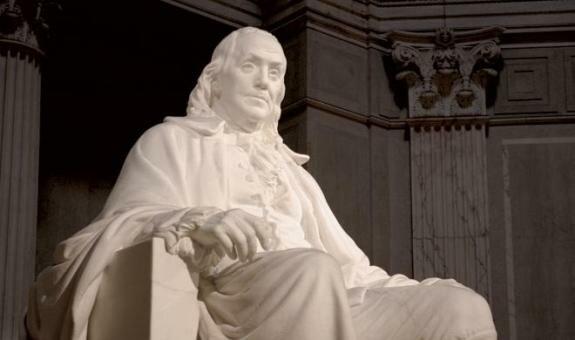 Памятник Б. Франклину в Филадельфии, США