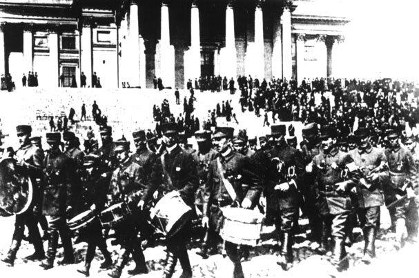 парад победы немецких и финских отрядов в Хельсинки