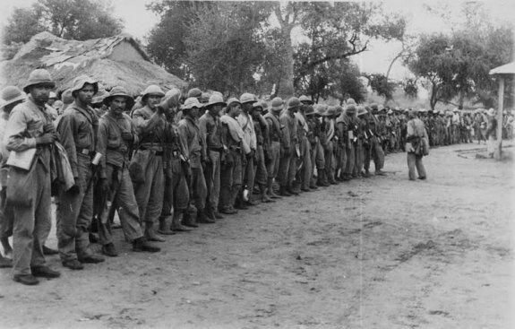 Парагвайские солдаты во время Чакской войны. Фото: 1932 г.