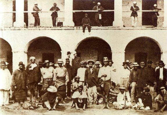 Парагвайские военнопленные. Фото: 1869 г.