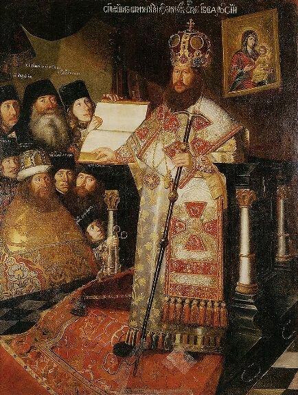 патриарх Никон с братией