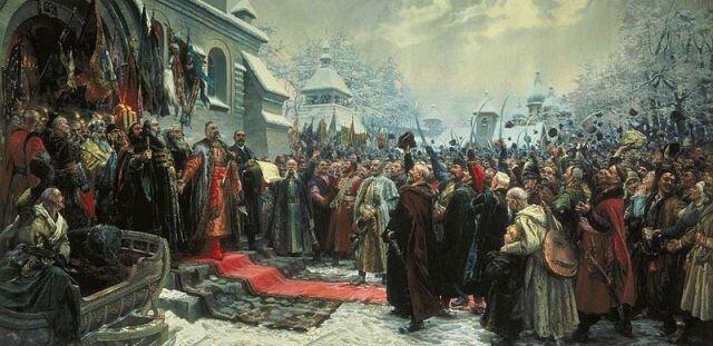 Переяславская рада, худ. М. Хмелько, 1951 г., Национальный художественный музей Украины, Киев