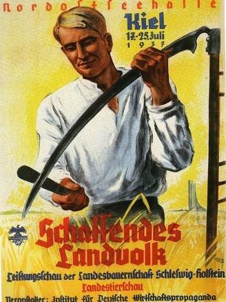 Плакат 1937 г. к сельскохозяйственной ярмарке в Киле