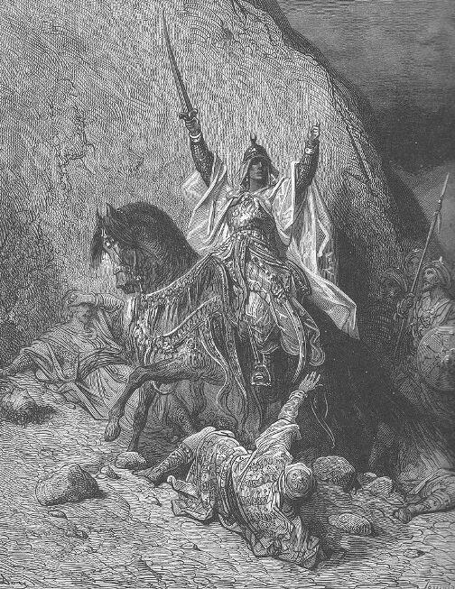 Саладин. Гравюра