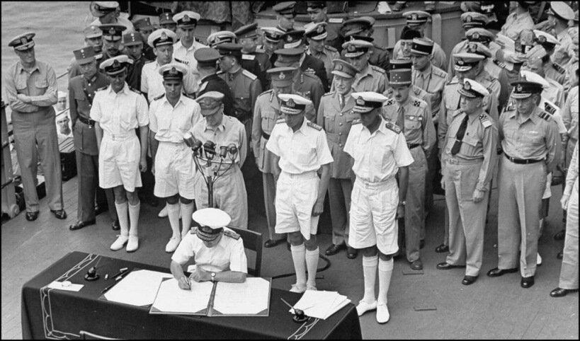 подписание капитуляции Японии