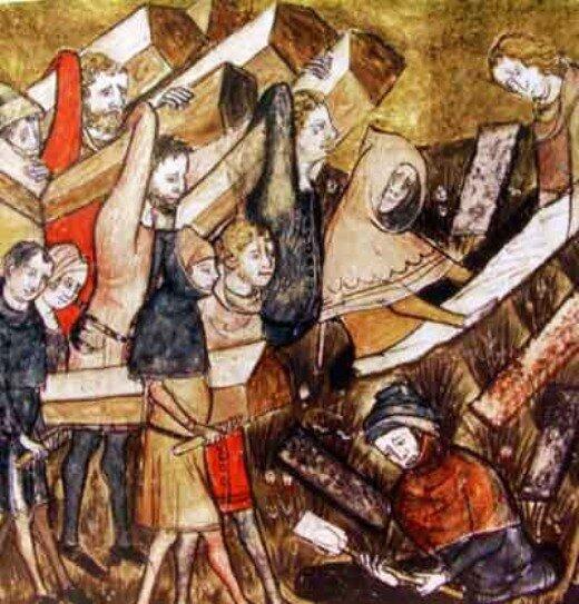 похороны жертв чумы в Турине
