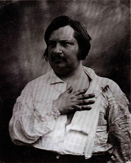 Портрет Оноре Бальзака. С дагерротипа