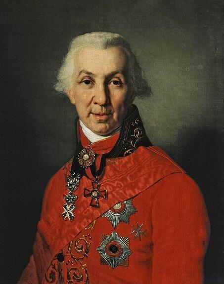 Портрет Г. Державина. Худ. В. Боровиковский, 1811 г., Пушкинский музей, Москва