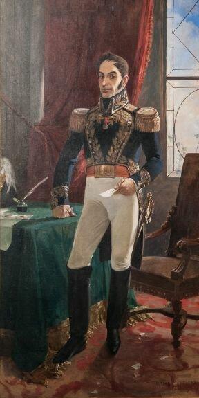 Портрет Симона Боливара. Худ. А. Михелена, 1895 г., Национальная художественная галерея, Каракас, Венесуэла