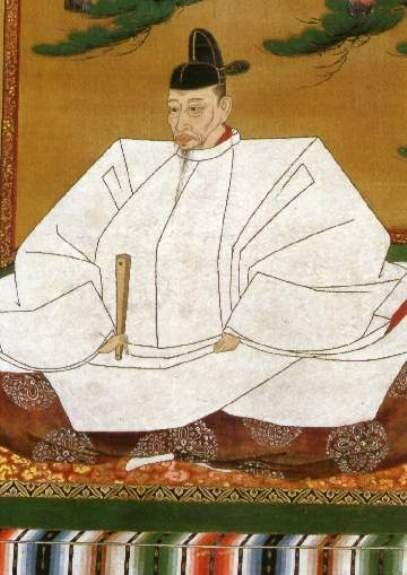 Портрет Тоётоми Хидэёси. Худ. С. Шотай, 1559 г., роспись на шелке, Музей искусства Азии, Сан-Франциско, США