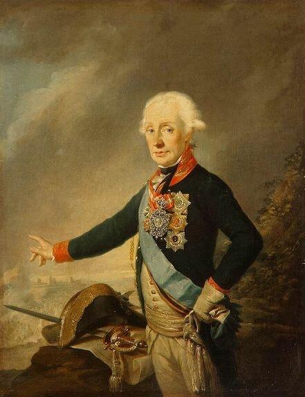 Портрет фельдмаршала графа А. В. Суворова. Худ. Й. Крейцингер, 1799 г., музей Эрмитаж, Санкт-Петербург