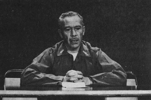 Президент Л. Гарсия обращается к народу после гватемальского землетрясения 1976 г.