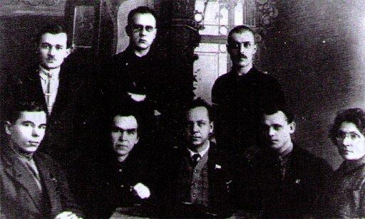 Президиум 1-го Сибсъезда  Рабиса. 1926 год, г. Новосибирск