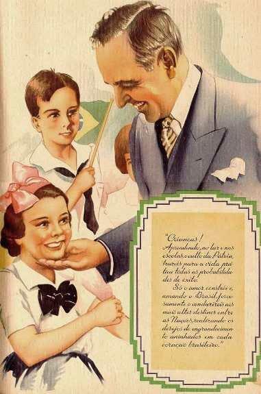 Варгас на плакате, пропагандирующем «Новое государство». 1938 г.