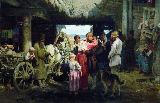 """Худ. И. Репин """"Проводы новобранца"""", 1879 г."""