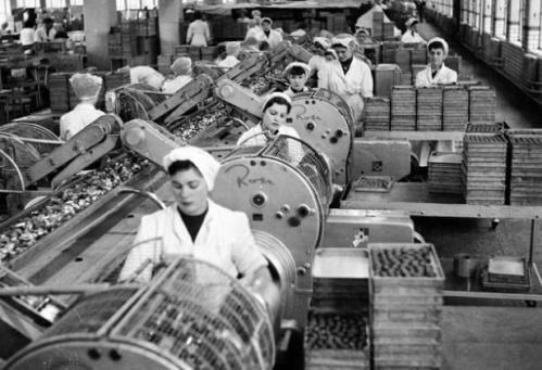 Работницы фабрики Кэдберри. Фото 50-х годов