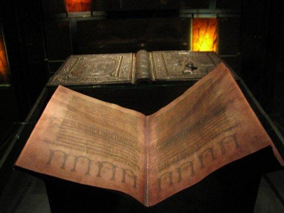 Серебряный кодекс. Университетская библиотека г. Упсала. Швеция