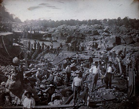 Д. Джонсон. Шахтеры близ Сакраменто. Дагеротип. Ок. 1852 г.