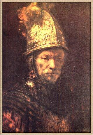 Портрет человека в золтом щлеме