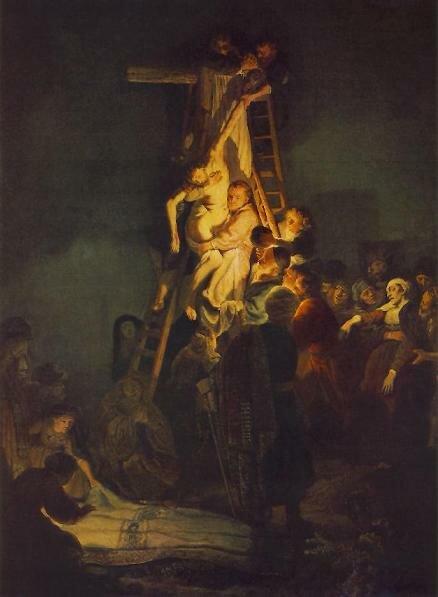 Рембрандт Снятие с креста