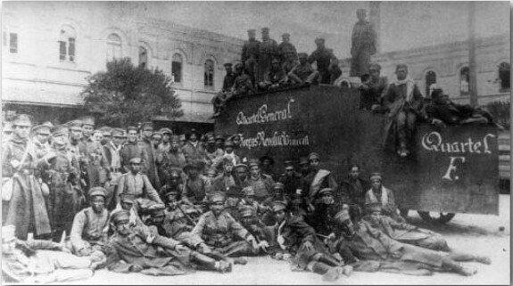 Солдаты-тенентисты позируют для фото. 1924 г.