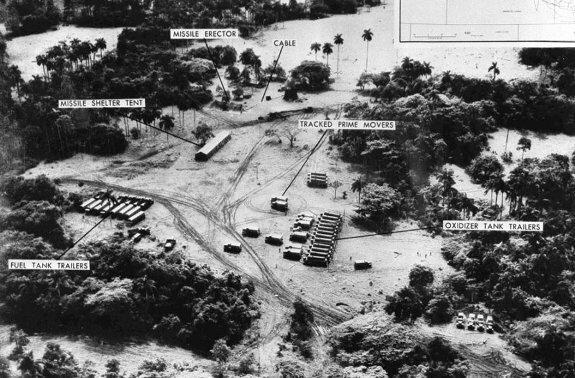 Позиции советских ракет на Кубе на фото, сделанного американским самолетом, 1962 г.