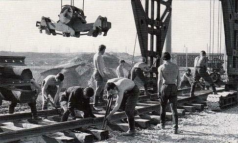 Комсомольцы на строительстве БАМа, 1967 г.