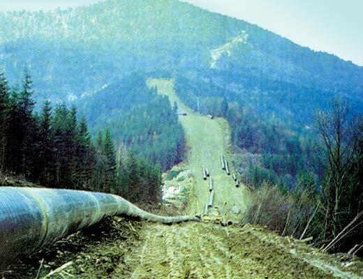 Строительство экспортного магистрального газопровода Уренгой — Помары — Ужгород