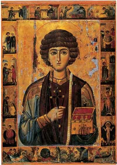 Святой Пантелеймон. Ок. XIII века, Монастырь Святой Екатерины, гора Синай, Египет