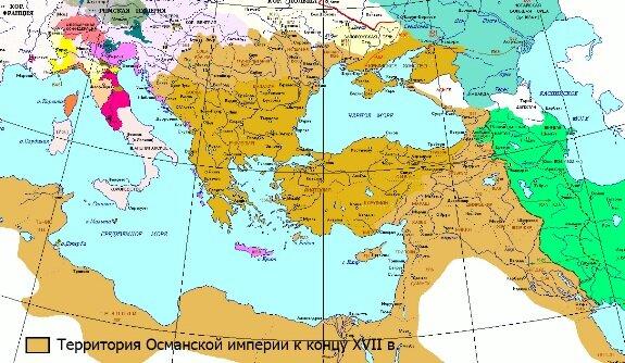 Османская империя, карта