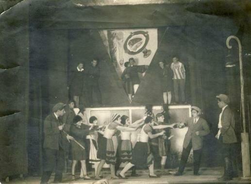 Театр рабочей молодежи (ТРАМ) в городе Кольчугино, Владимирская область, фото 30-х гг.