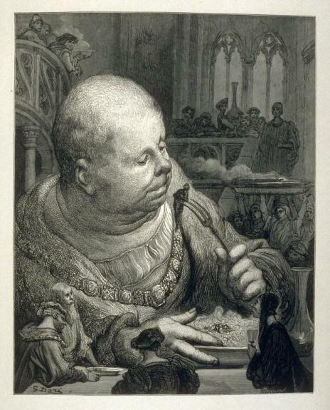 Трапеза Гаргантюа. Иллюстрация Г. Доре