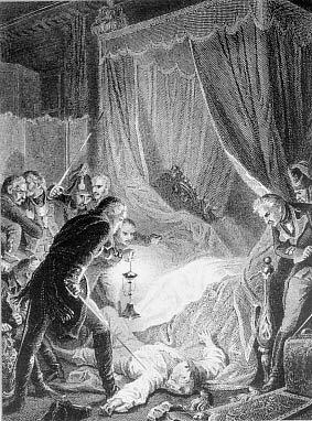 Убийство императора Павла I, гравюра Утвайта по рис. Филиппото. 1880-е гг.