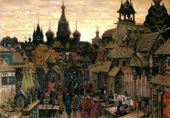 Васнецов А. М. Старая Москва. Улица в Китай-городе начала XVII в.