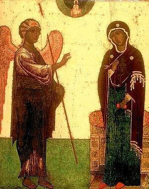 Икона Благовещенье устюжское