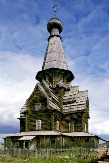 Успенская церковь в селе Варзуга. 1674 г. Мурманская область