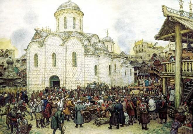 Худ. Васнецов А. М.  Оборона Москвы от нашествия хана Тохтамыша.