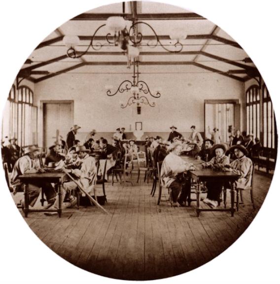 Ш. Негр. Венсеннскиu приют. Столовая. 1859 г. Национальная библиотека, Париж