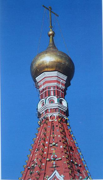Верхняя часть шатра Покровского собора