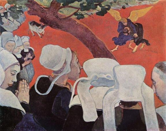 Видение после проповеди. Худ. П. Гоген, 1888 г. Холст, масло. Национальная галерея Шотландии, Эдинбург, Великобритания
