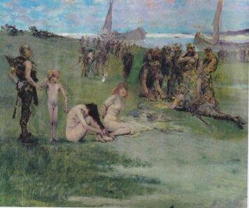 Рабы, захваченные викингами