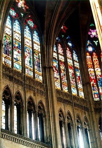 Витражи в соборе Сен-Этьен в Метце