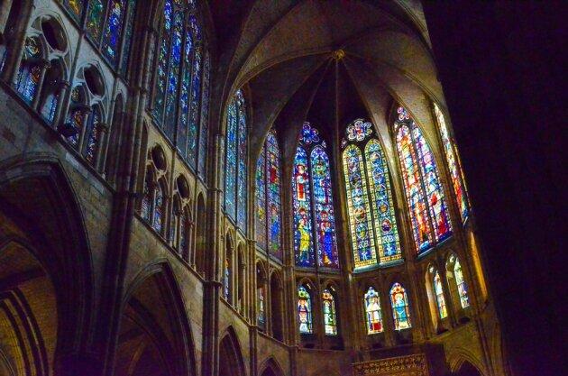 Витражи собора в Леоне