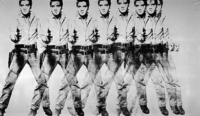 Худ. Э. Уорхолл Восемь Элвисов, 1963 г.