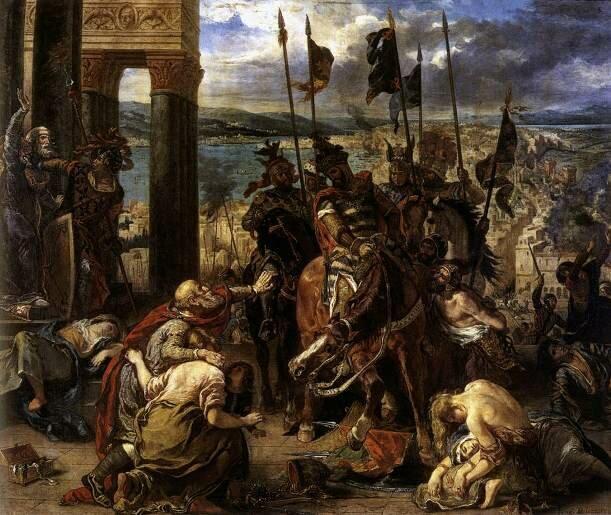 Взятие Константинополя, Делакруа