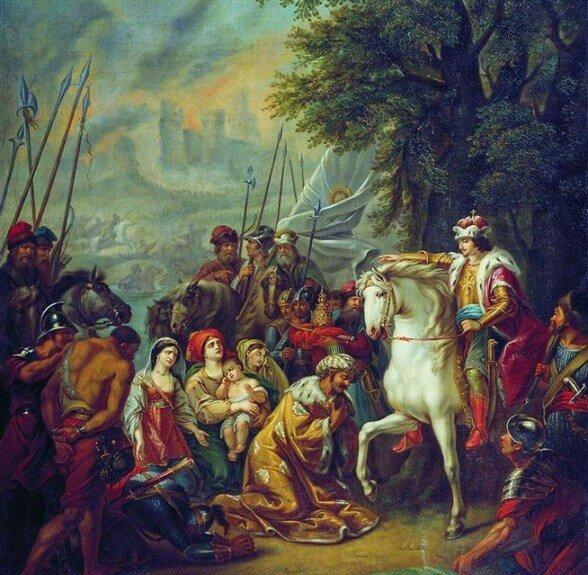 Взятие Казани Иваном Грозным 2 октября 1552 года. Худ. Г. Угрюмов, не позднее 1800 г., Русский музей, Петербург