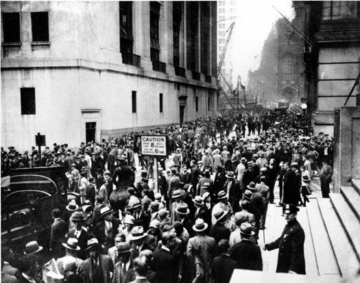 Крах Уолл-стрит. Фото 1929 г.