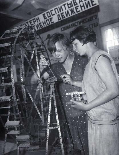 Юные техники. Москва, 1930 г., фото А. Шайхета