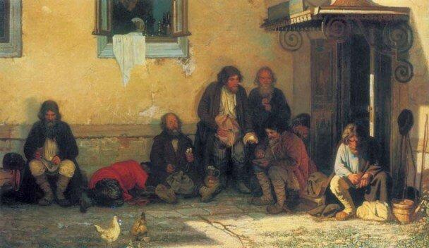 """Худ. Г. Мясоедов """"Земство обедает"""", 1872 г."""
